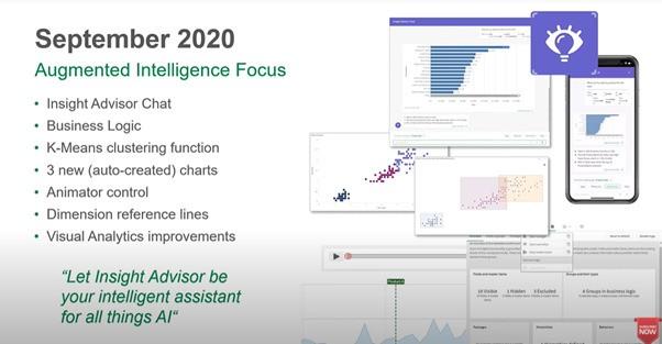 Augmented Intelligence Focus - Qlik Sense Release Septembre 2020