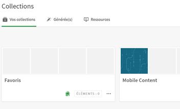 Qlik Sense mobile collections